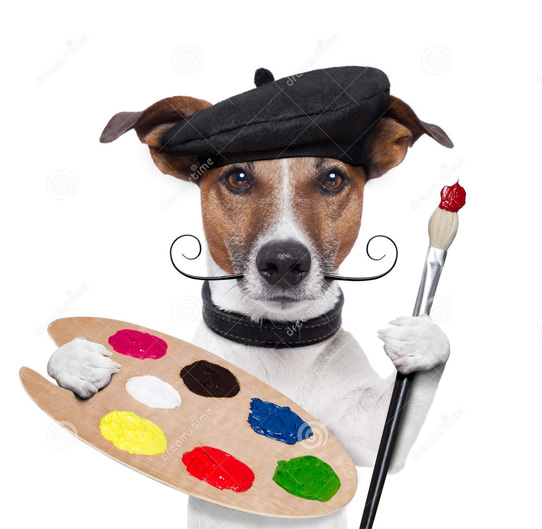 Painter-dog copy