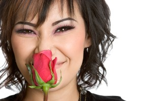 Smelling-a-rose