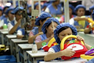 Asians on assembly line
