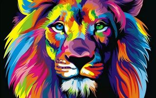 Abstract-Lion
