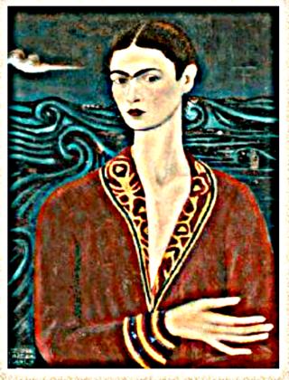 Frida 1 Self Portrait Velvet Dress- 1926